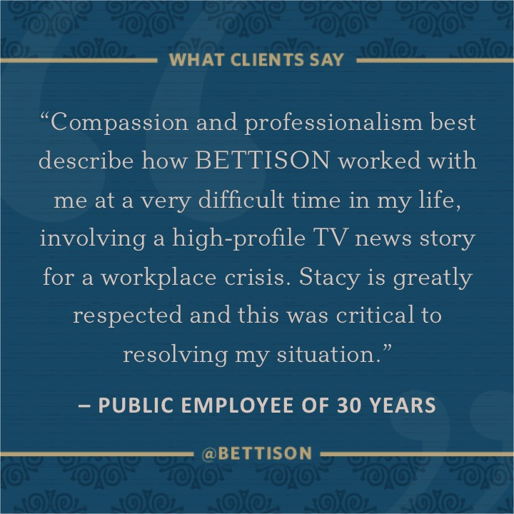 Bettison Client Provides Testimonial for Crisis Communications